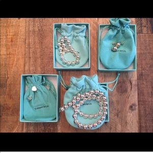 NEVER WORN Tiffany & Co. sterling silver bead set